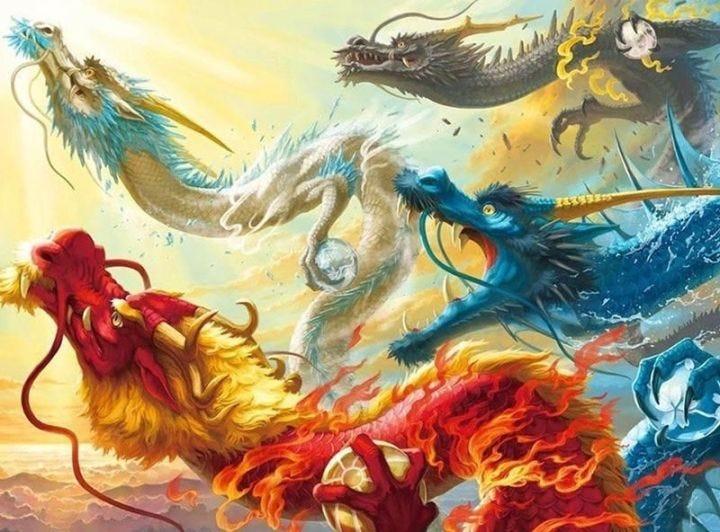 The four dragon kings artwork