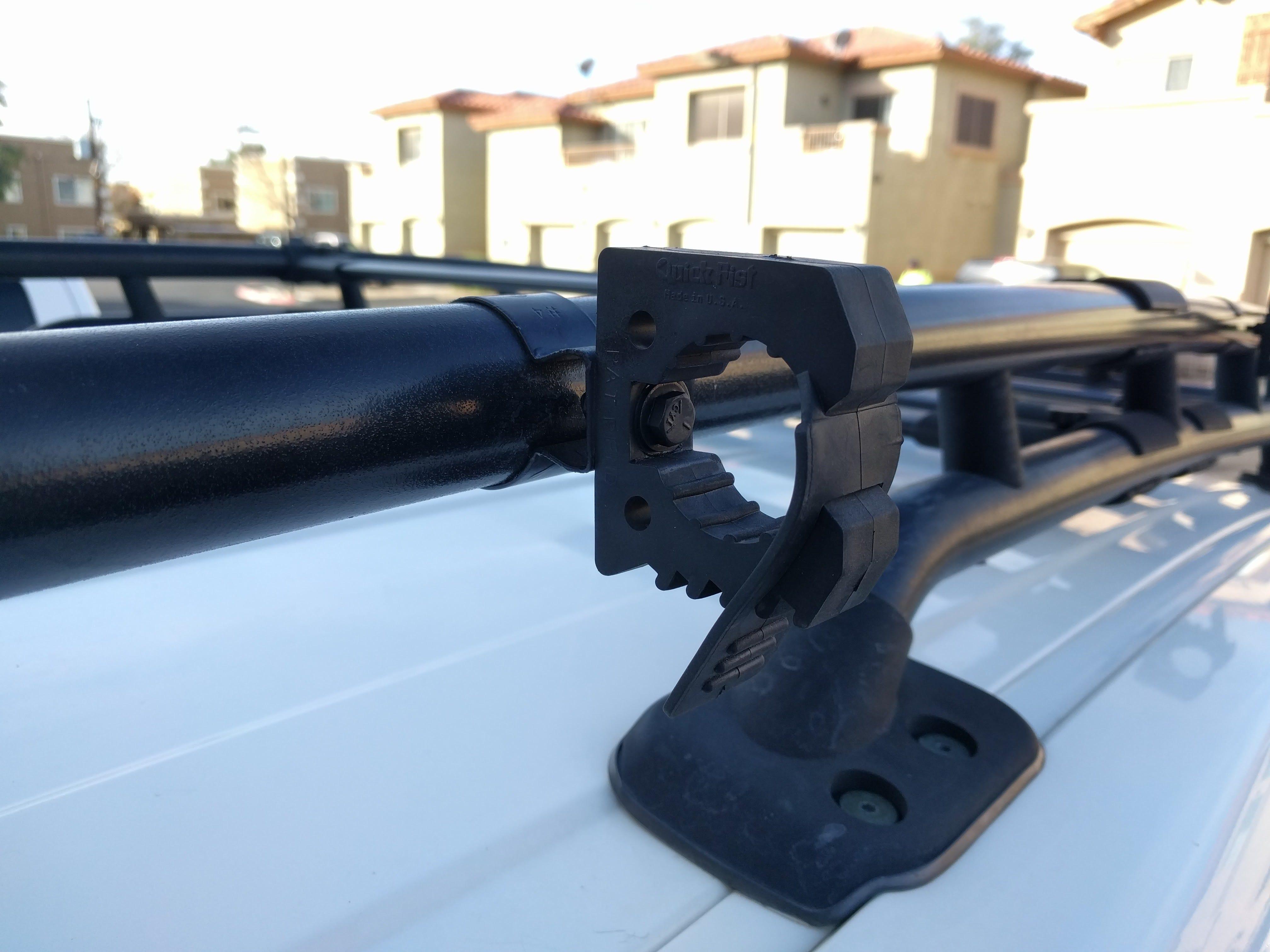 diy fj cruiser roof rack axe shovel