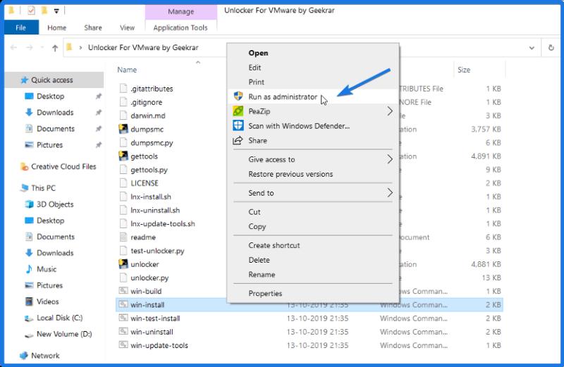 Install VMware Unlocker Patch Tool