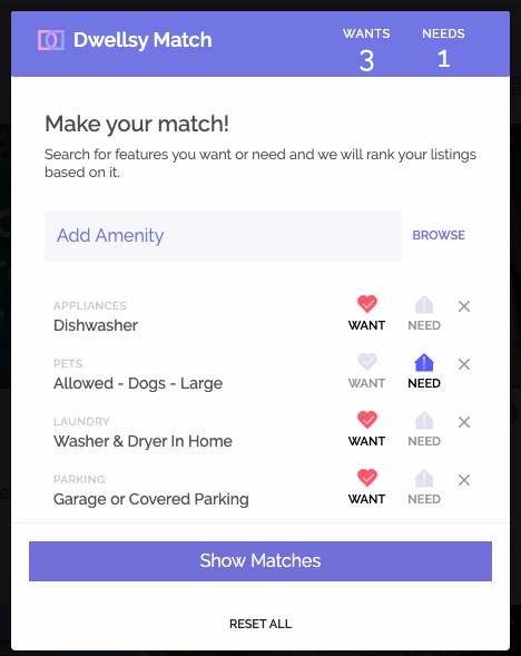 hard to find rentals dwellsy match