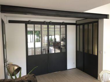 la miroiterie yerroise - renovation porte interieure - coulissante - verriere sur mesure - essonne 1