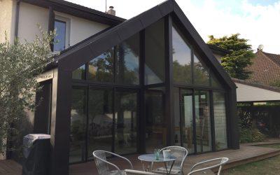 Projet d'extension de style contemporain d'un pavillon à Noiseau