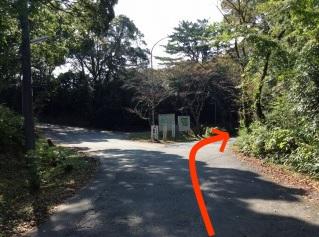 地図 篠田山霊苑内