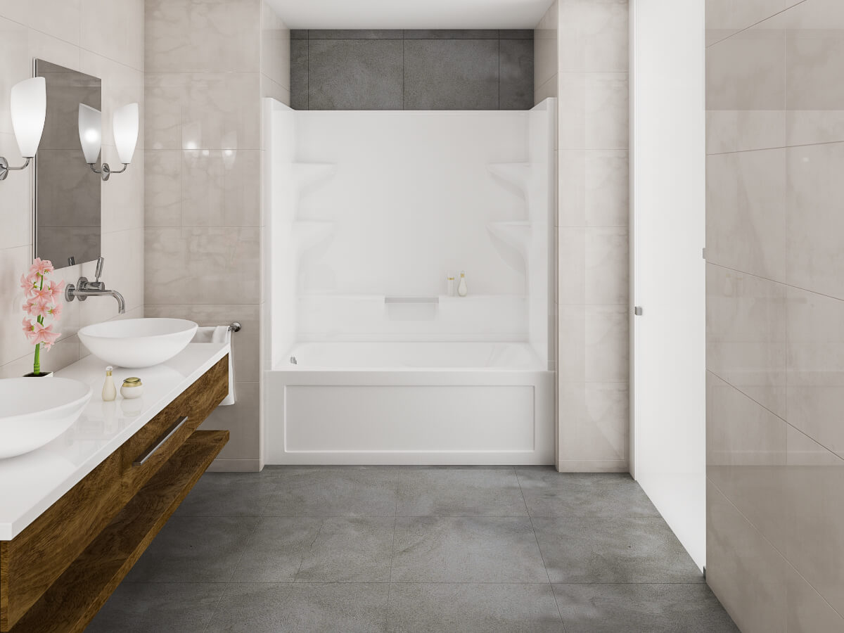 two piece tub shower. High Resolution Product Image Belaire 2 Two Piece Mirolin