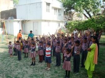 Copiii din scoala privata