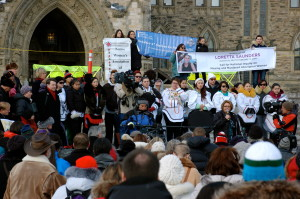 Loretta Saunders - Vigil in Ottawa, March 5, 2014 (Photo courtesy of ibourgeault_tasse from Flickr Creative Commons)