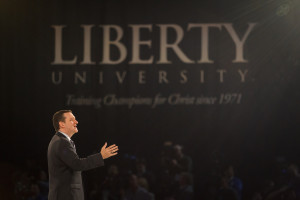 Cruz announced his candidacy for President at Liberty University, the USA's largest Evangelical Christian university