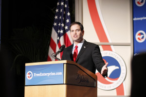 Rubio gained national fame by giving the Republican response to President Obama's 2013 State of the Union Address