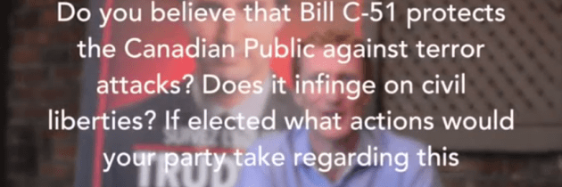 The Candidates on Bill C-51: Canadian Federal Elections 2015