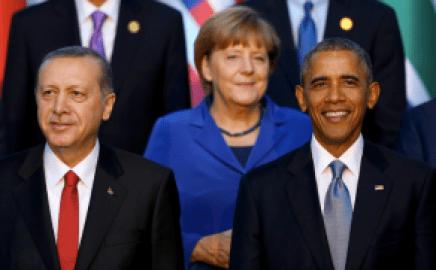 Erdogan, Merkel & Obama at the G20 Summit in Antalya, Turkey.