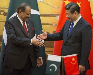 Pakistani President Mamnoon Hussain welcomes Chinese President Xi Jinping after he lands near Islamabad, Pakistan in 2015. Photo Credit: Broad Leak News (Flickr Creative Commons).