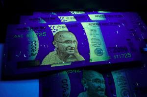 The new 2000 rupee note (image taken by Partha S. Sahana