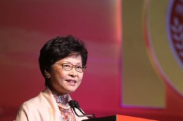 Ex-Chief Secretary Carrie Lam is put in a promising situation with support from several pro-Beijing Election Committee members. goo.gl/GgHlW6