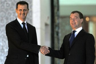 Bashar Al-Assad with then-Russian President Dmitry Medvedev in 2010 Credits: By Kremlin.ru, CC BY 4.0, http://bit.ly/2nSiS46