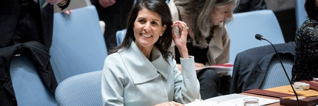 Navigating the Trump Administration: The Show-Womanship of Nikki Haley