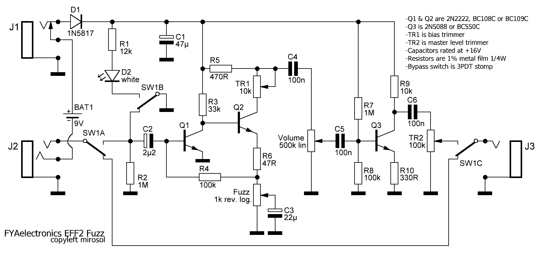 Bypass Switch Schematic