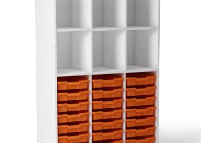 Victory 6 casiers + 21 bacs – H 160cm