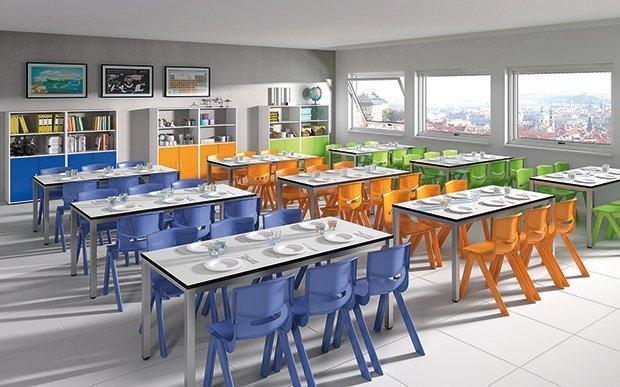 mobiliario comedor escolar   Mirplay School