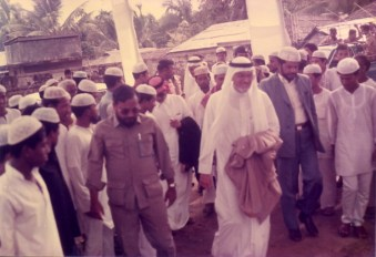 Mir Quasem Ali, with Abdullah Omar Nasseef (Arabic: عبدالله عمر نصيف) the then Secretary General of World Muslim League - visiting projects dedicated to Rohingya refugees in Ramu, Cox's Bazaar, Bangladesh. Mir Quasem Ali was the Country director of World Muslim League