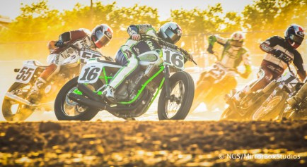 Austin, TX - June 3, 2015 - Downtown: Wyatt Maguire during practice for Harley Davidson Flat-Track Racing at X Games Austin 2015. (Photo by Nick Guise-Smith / ESPN Images)