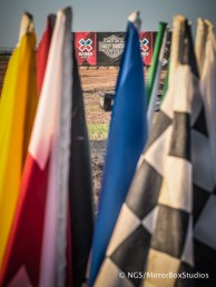 Austin, TX - June 3, 2015 - Downtown: Starting Gate and flags during practice for Harley Davidson Flat-Track Racing at X Games Austin 2015. (Photo by Nick Guise-Smith / ESPN Images)