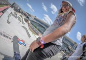 Austin, TX - June 4, 2015 - Downtown: Pamela Rosa during practice for Skateboard Street Women's at X Games Austin 2015. (Photo by Nick Guise-Smith / ESPN Images)