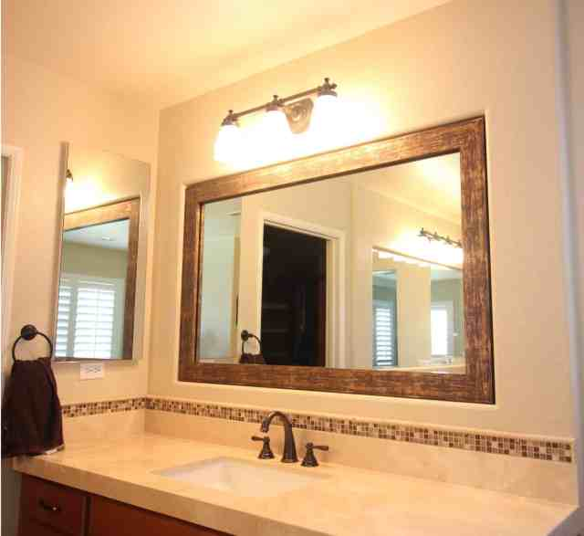 Framing A Bathroom Mirror How To