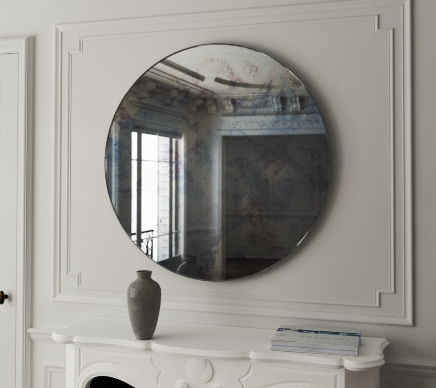 The Coveteur Antique Mirror Walls: Round Antiqued Mirror