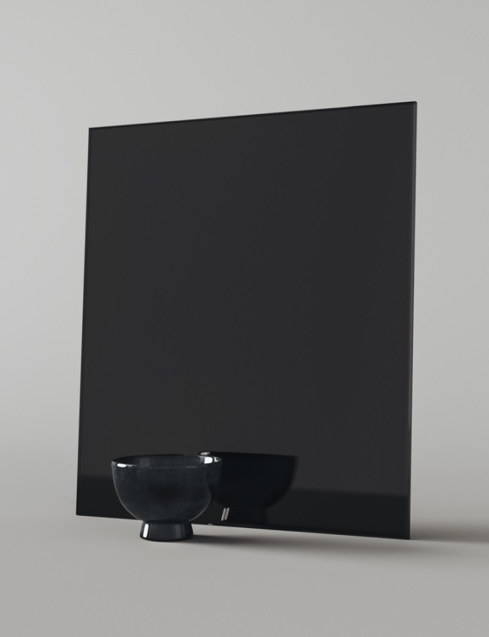 Finding Black Glass Mirror