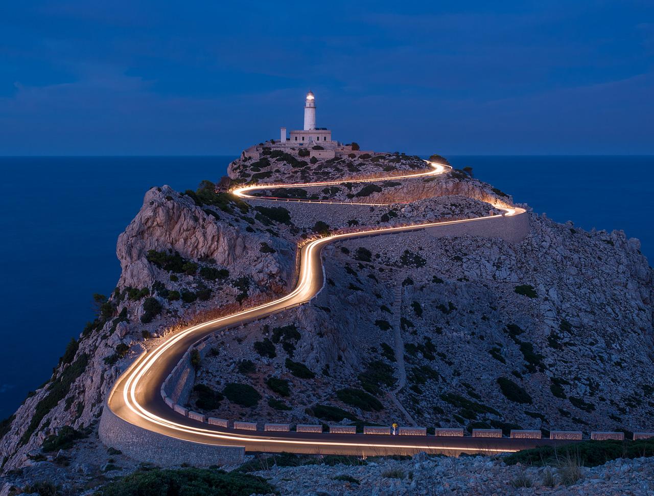 Der Leuchtturm von Kap Formentor auf Mallorca
