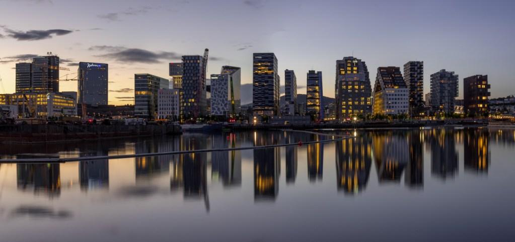 Die Skyline in Oslo