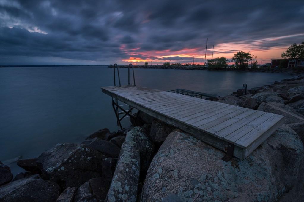 Blick auf den Vättern See in Schweden