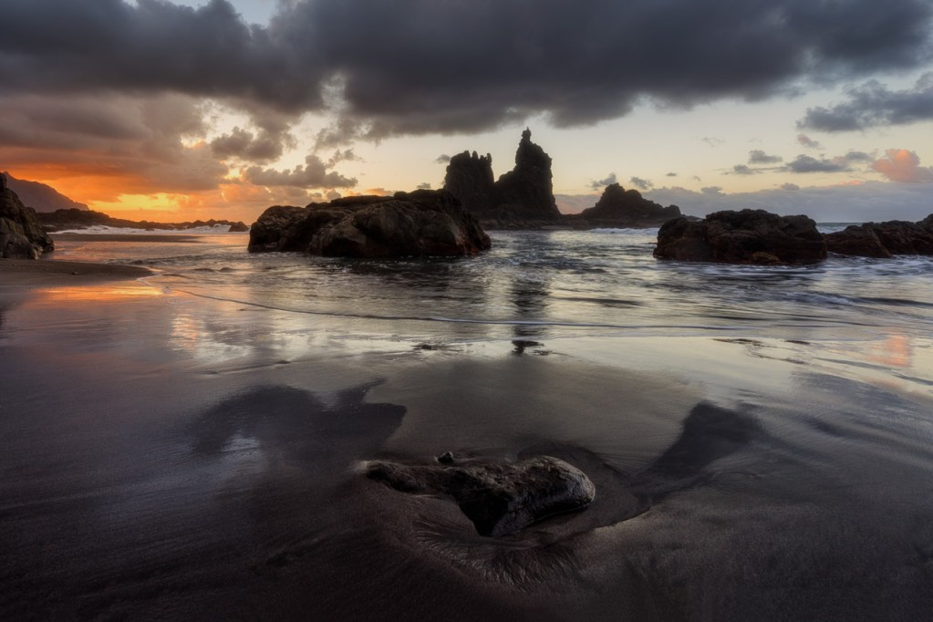 Foto vom Playa Benijo auf Teneriffa.