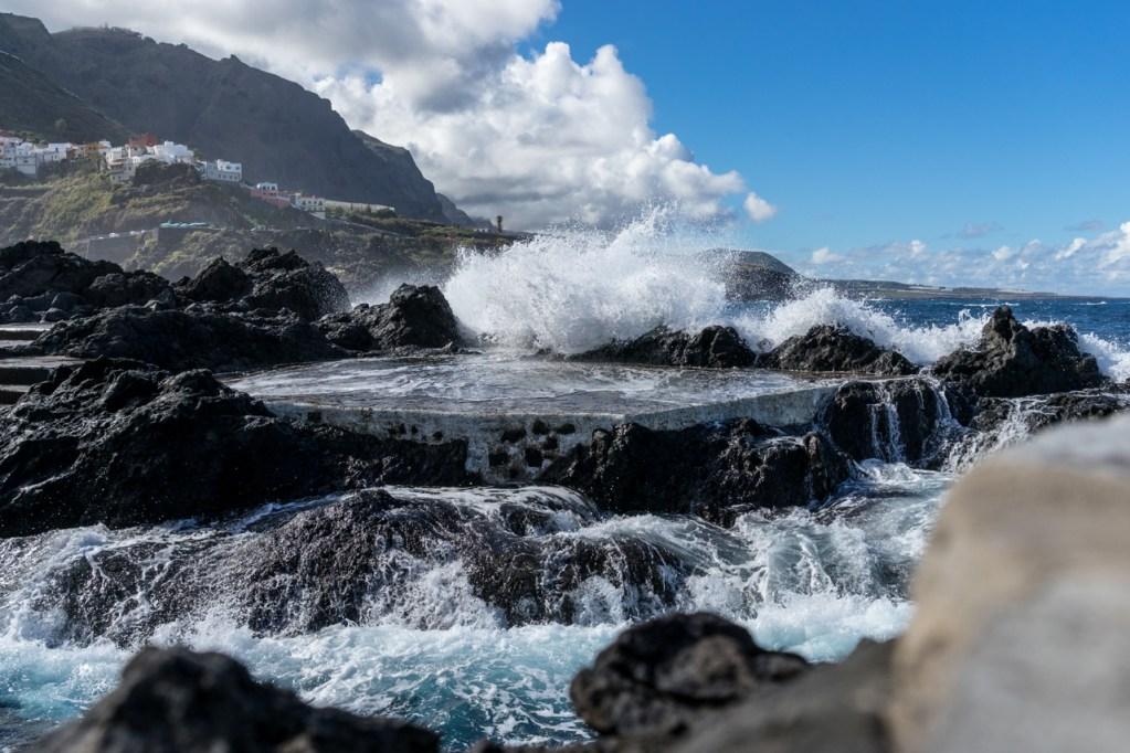 Ein Naturschwimmbecken in Garachico auf Teneriffa