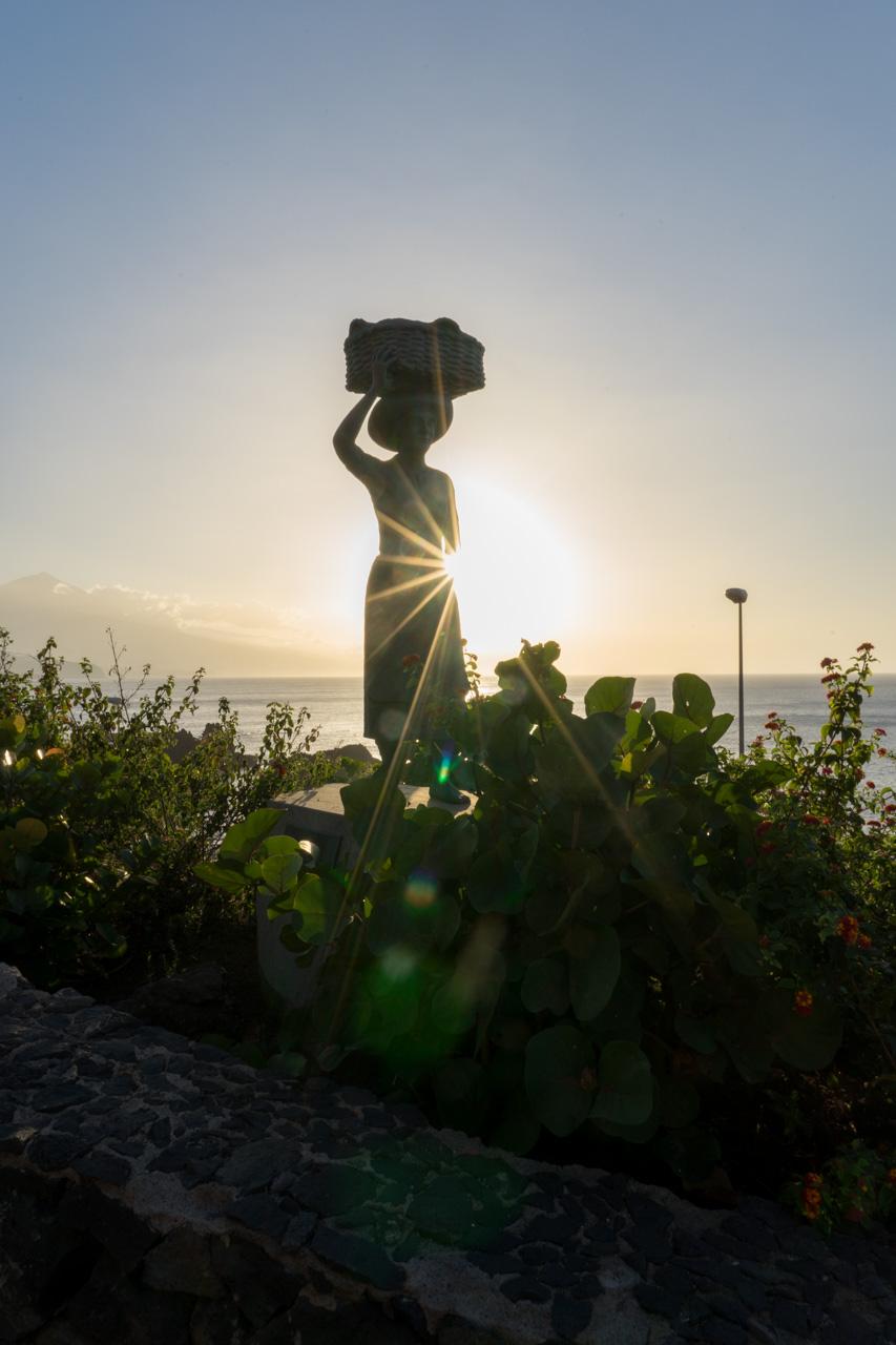 Statue in El Pris auf Teneriffa