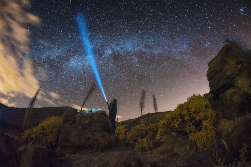 Ein Selfie vor der Milchstraße auf Teneriffa