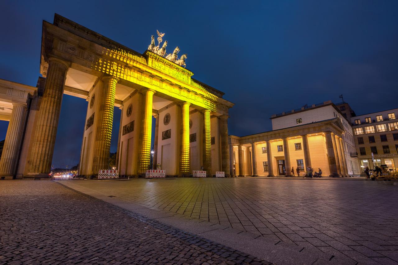 Brandenburger Tor zum Festival of Lights