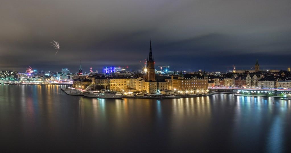 Panorama mit Blick über Stockholm