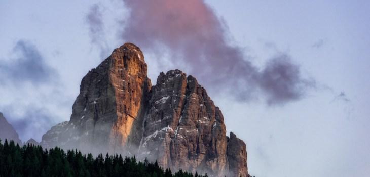Dolomiten Gipfel bei Sonnenuntergang