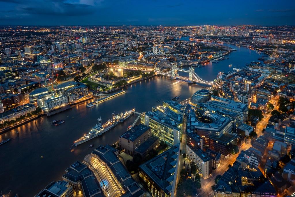 Blick von der Shard in London