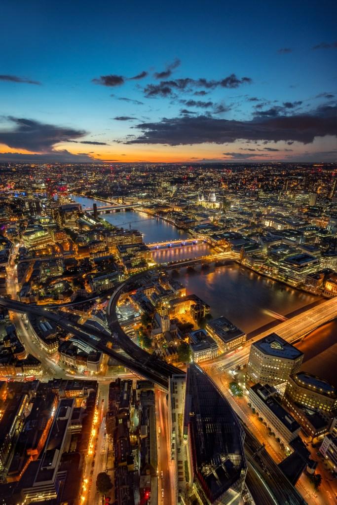 Ausblick von der Shard in London