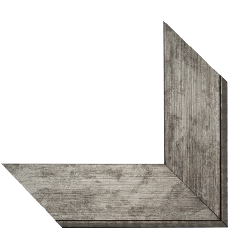 brushed silver mirror frame