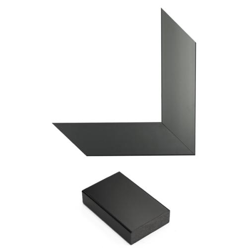 Satin Black Mirror Frame Sample