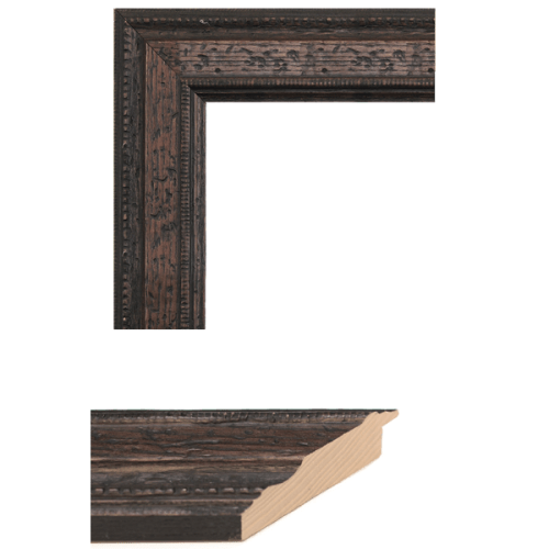 1584 Distressed Walnut Mirror Frame Sample