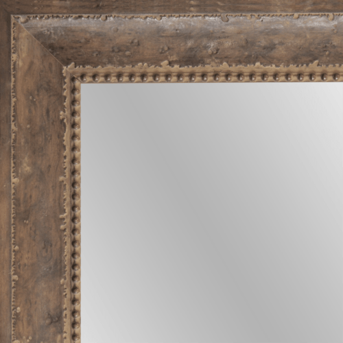 1645 Buckskin Framed Mirror