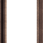 1654 Bronze Mirror Frame