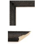 2435 Aged Black Mirror Frame Sample