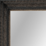 2435 Aged black Framed Mirror