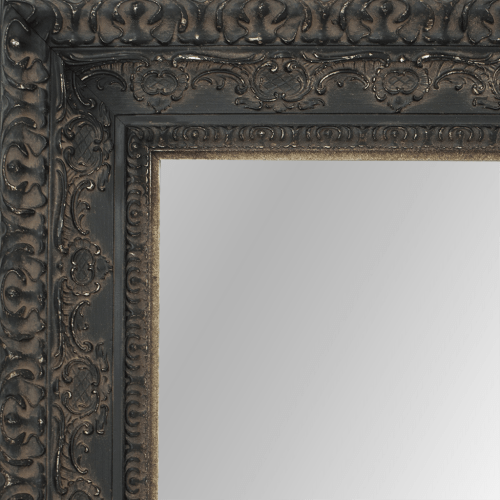 2436 Aged black Framed Mirror
