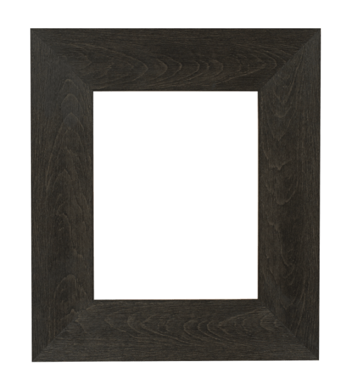 flat dark brown mirror frame